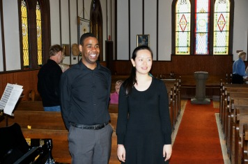 Sisi and I after our concert in Chemainus