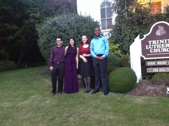 Scott, Clare, Laine, and Shawn after our Point Roberts concert May 31st 2014