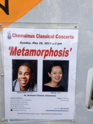 Chemainus Classical Concert Series Poster outside St Michael's Church