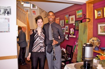 Christine and I after performing at the Silk Purse Arts Centre in West Vancouver. Nov. 2011