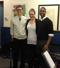 Vancouver Clarinet Trio after our performance at the CMC