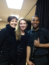 Laura, Marina and I after our trio concert at UBC